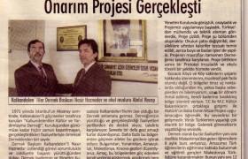 """""""Necati Zekeriya"""" İlköğretim Okulunda Onarım Projesi Gerçekleşti"""
